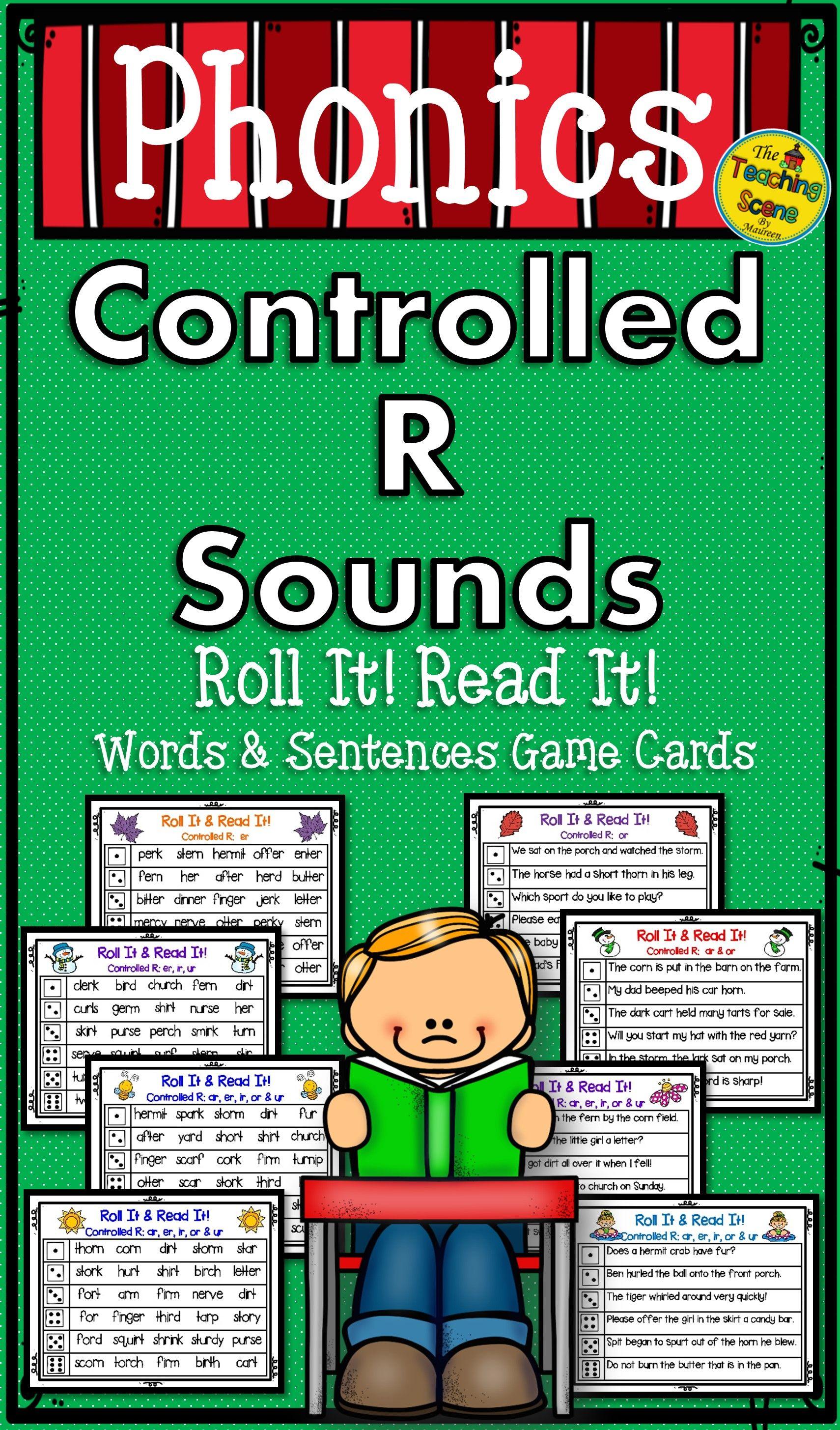 R Controlled Vowels Bossy R Roll It Read It Words