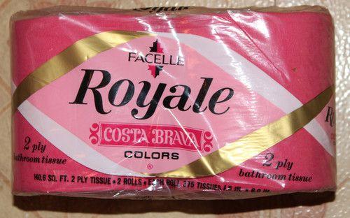 Facelle Royale Costa Brava Hot Pink Toilet Paper Bathroom Tissue 1969 Vintage | eBay