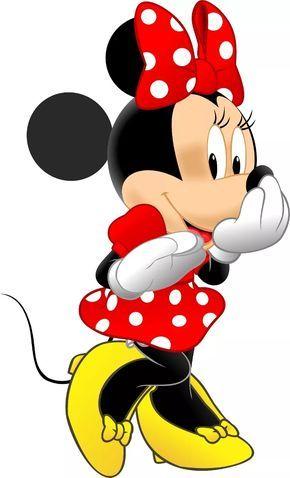 5 Adesivo Parede Quarto Minnie Vermelha Disney Minie Mickey - R$ 80,67