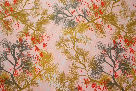 Fabric - KLIPPAN - Cherry Rain (Dawn) - Heavy fabric - Canvas fabric - Cotton canvas fabric - Scandinavian design - Half meter / Half yard