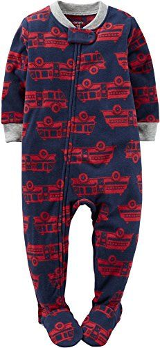 af0cd0ecfb95 Carters Baby Boys One Piece 12 Months Fire Engines -- Want to know ...