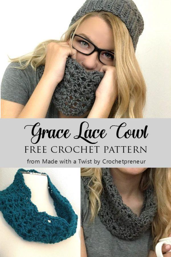 Free Lace Cowl Crochet Pattern Pinterest Crochet And Patterns