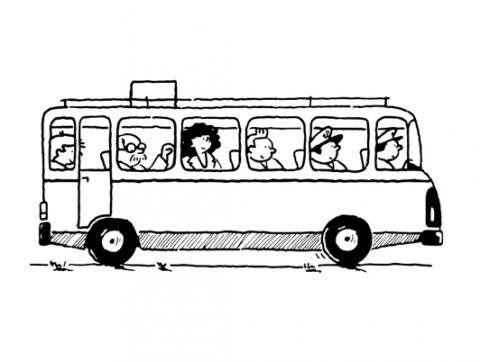 Autobús para colorear. Dibujos de medios de transporte para niños ...