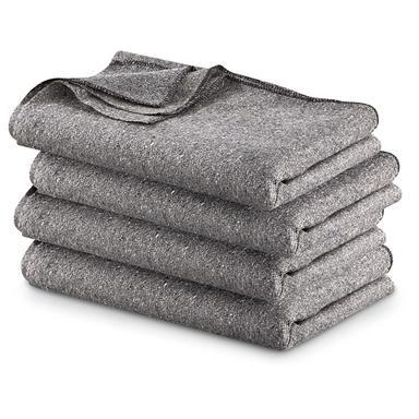 Warm Wool Winter Heavy Large Blanket Military Camping Survival Emergency