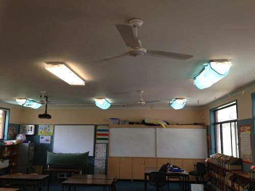 Classroom Decor Ceiling ~ Blue classroom mood filters fluorescent lights are a