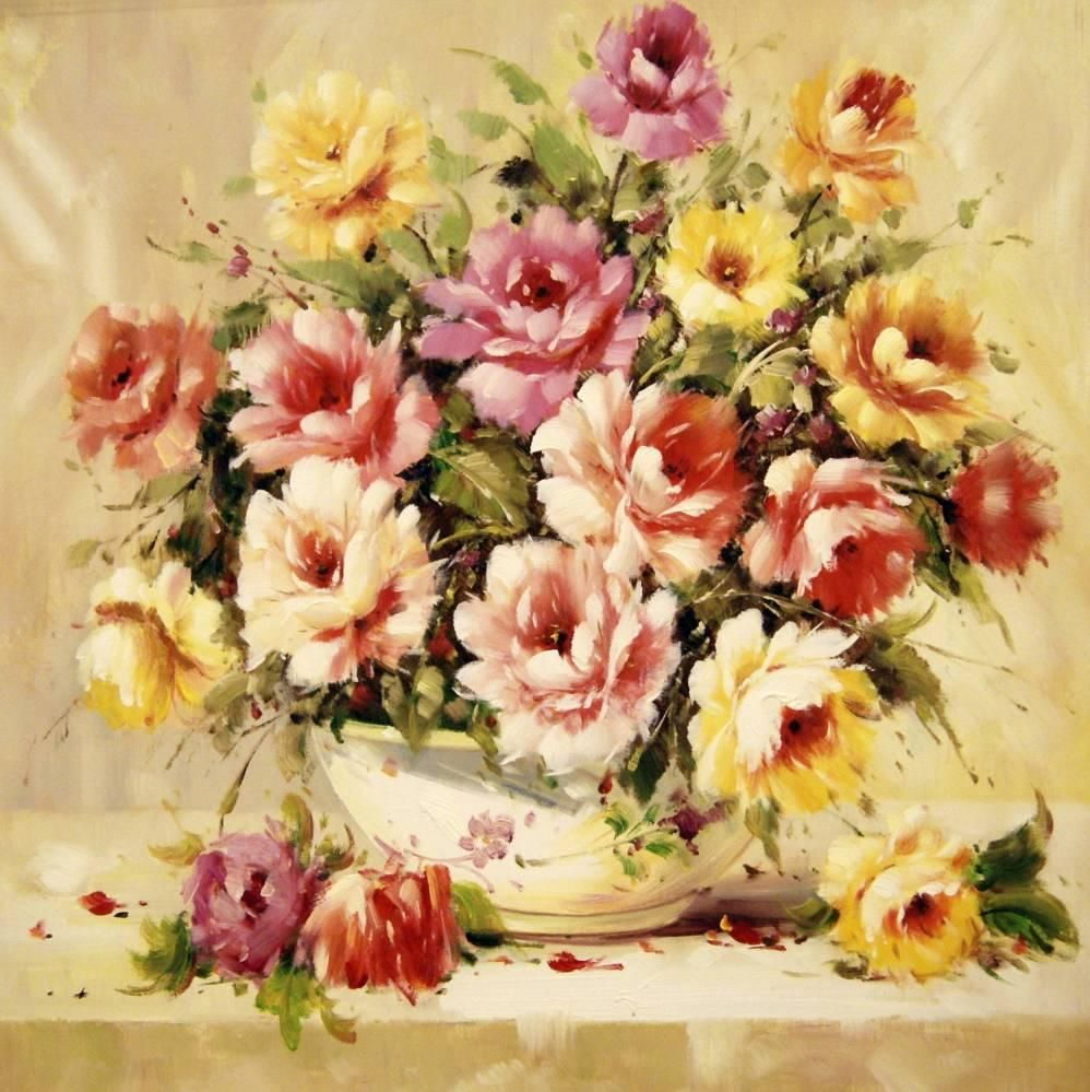 Beautiful Flower Paintings In 2018 Arts And Crafts Pinterest