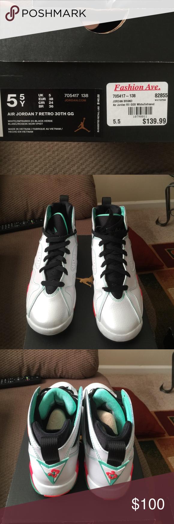 newest 2ad4a 659c4 Air Jordan Retro 7 verde Jordan Shoes Sneakers