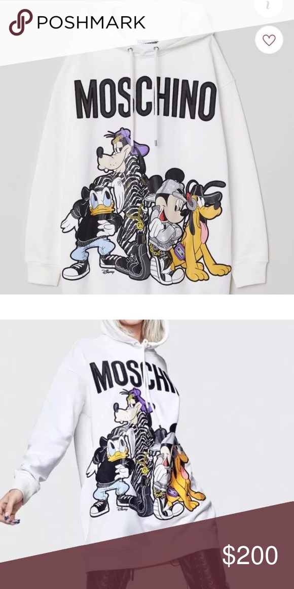Hm moschino women s hoodie dress Brand new with tags. Moschinox HM line.  Size S 9e8778cd2