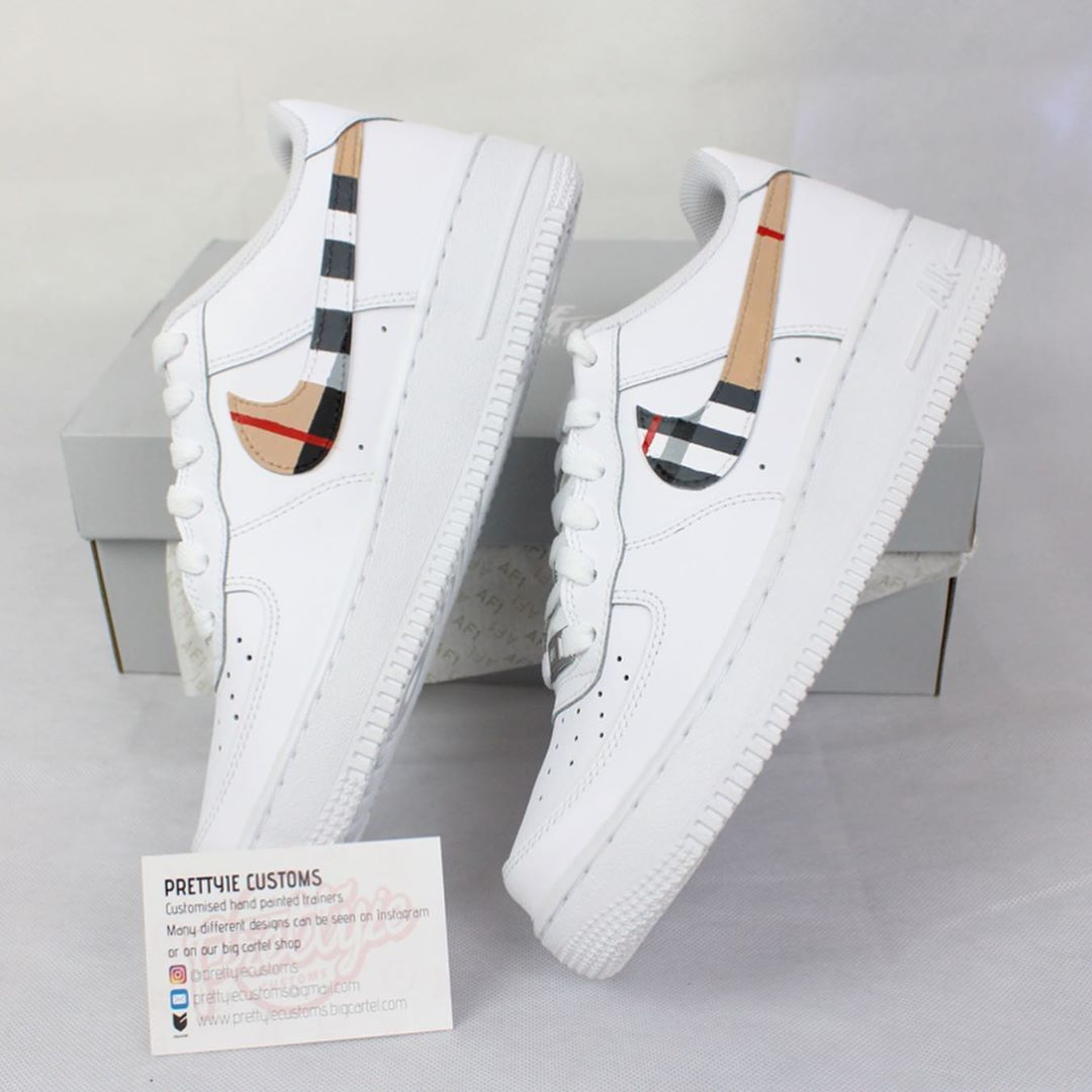 Burberry Nova Check Custom Nike Air Force 1 </p>                     					</div>                     <!--bof Product URL -->                                         <!--eof Product URL -->                     <!--bof Quantity Discounts table -->                                         <!--eof Quantity Discounts table -->                 </div>                             </div>         </div>     </div>     