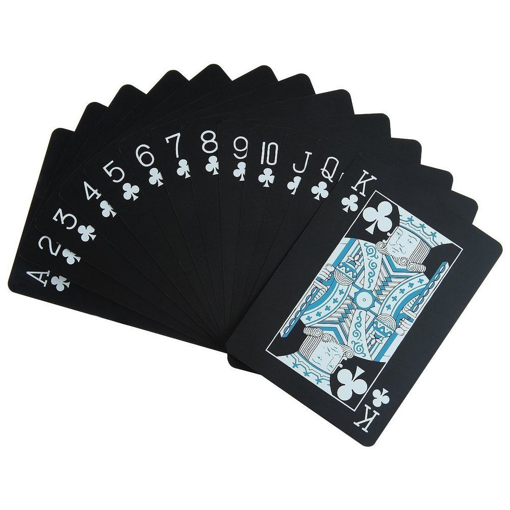 Waterproof Poker Cards Black Pvc Playing Cards Set Professional