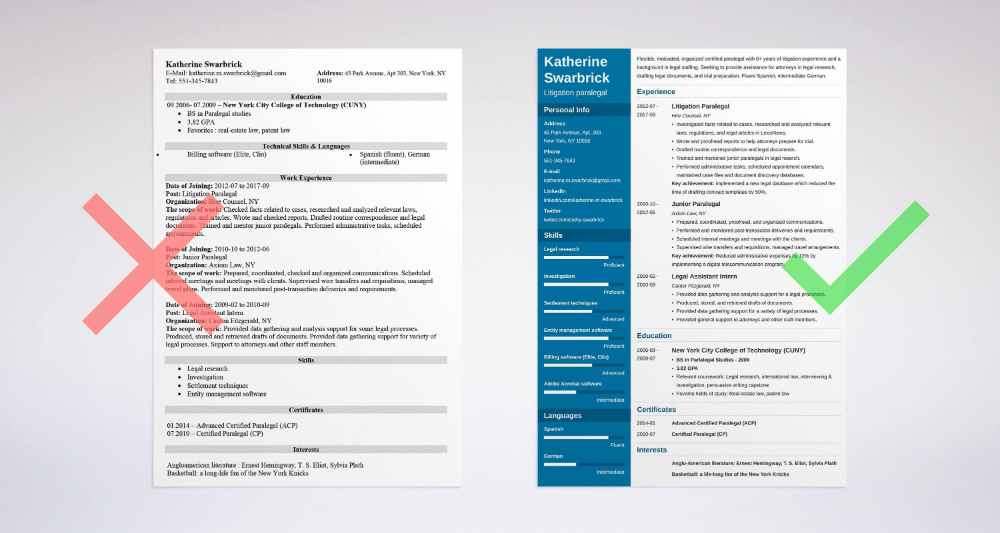 paralegal resume  sample and complete guide  20  examples