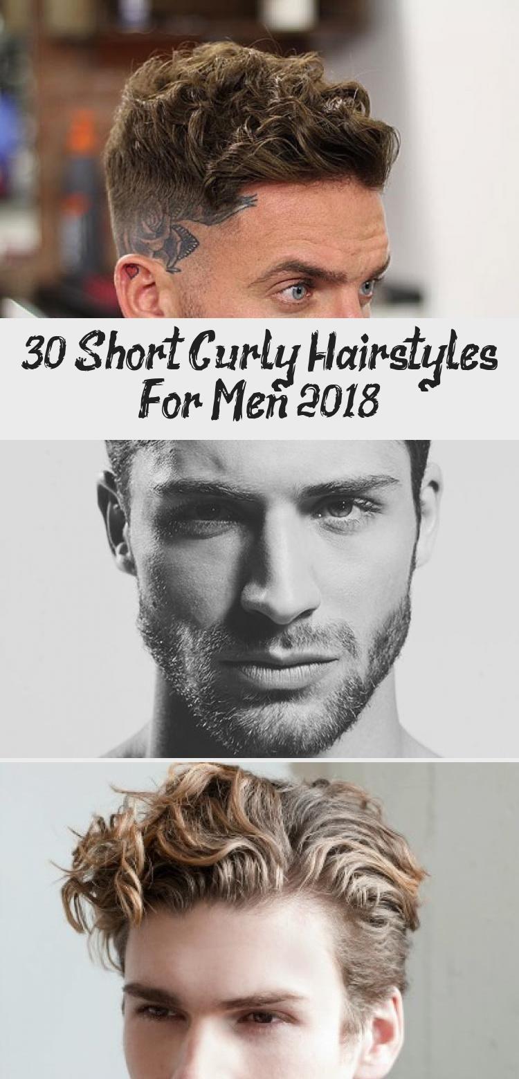 30 kurze lockige Frisuren für Männer 2018 – Frisuren