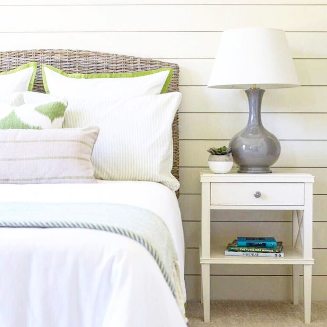 The Lines Of Our Clara Lattice Bedside Table Is The Perfect Counterpart To  The Seagrass Headboard In This #bedroom From @maureenmagula_design.