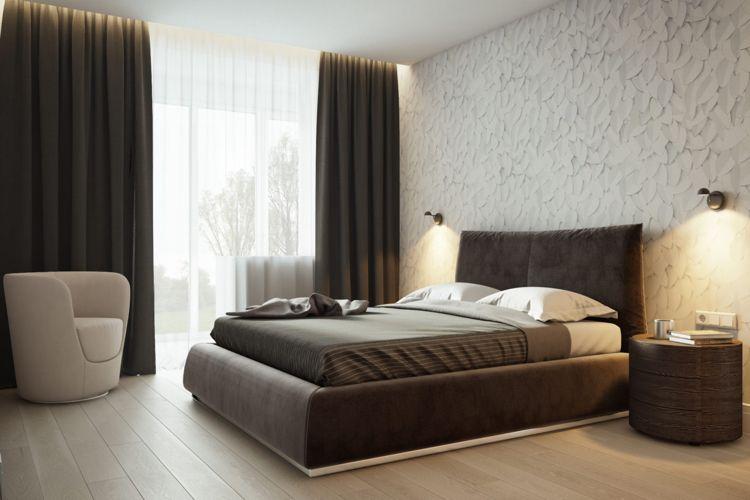 Schlafzimmer Bilder ~ Weiss grau beige schlafzimmer bett indirekte beleuchtung modern