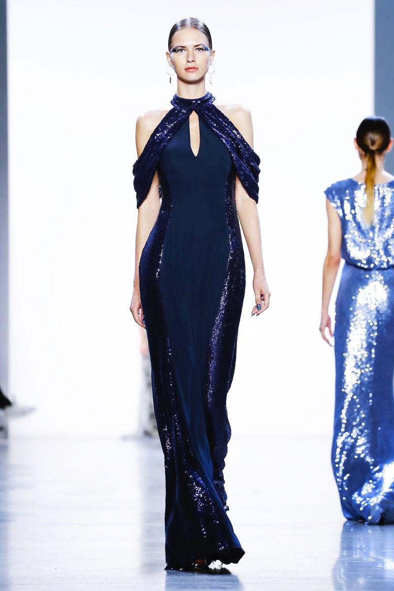 Lace v neck maxi dress april 2019 SpringSummer  Tadashi Shoji  Blue Dresses  Pinterest