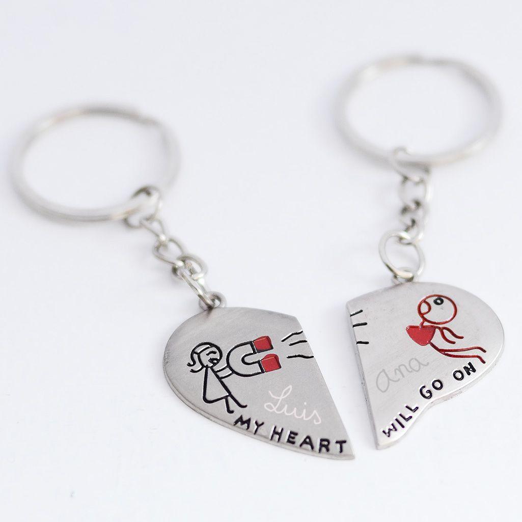 78c7917429bb Regalos originales para San Valentin. Llaveros personalizados con nombres.  Tienda online. Entrega en 24 horas.