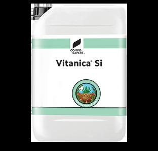 Vitanica® Si Σύνθεση: 5 % συνολικό άζωτο, 3% P2O5, 7% K2O , 1,7% Na, 10% SiO3, 22,7% εκχύλισμα Ecklonia maxima.  Ένα οργανο-ανόργανο, υγρό λίπασμα NPK, συνδιασμένο με πυρίτιο και εκχύλισμα φυκιών. Χρησιμοποιείται κυρίως διαφυλλικά με σκοπό την ενίσχυση της αντοχής των καρπών, την βελτίωση των ποιοτικών τους χαρακτηριστικών και την αύξηση της μετασυλλεκτικής τους αντοχής.