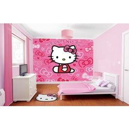 Papier Peint Hello Kitty Chambre Hello Kitty Papier Peint Hello Kitty Conceptions De Chambre De Fille