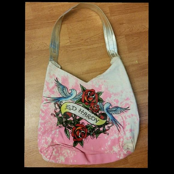 Selling this Beautiful Ed Hardy Rose bird bag in my Poshmark closet! My  username is 11a8661494