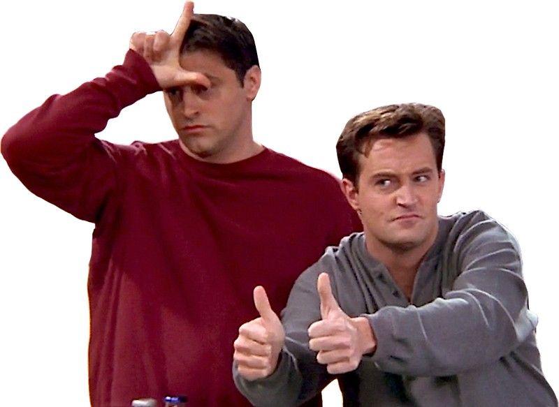 Chandler Bing Joey Tribbiani Friends By Knowyourrights Laptop