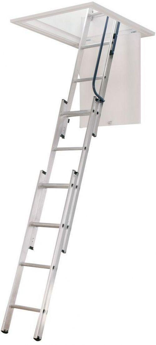 Compact Aluminum Attic Ladder 250lb Capacity Werner