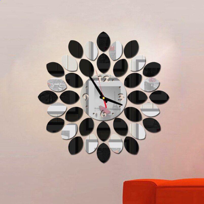 New 3d Wall Clock Sticker Diy Creative Wall Clocks Minimalist