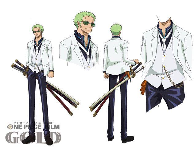 Character Design One Piece : One piece film gold roronoa zolo zoro sheet