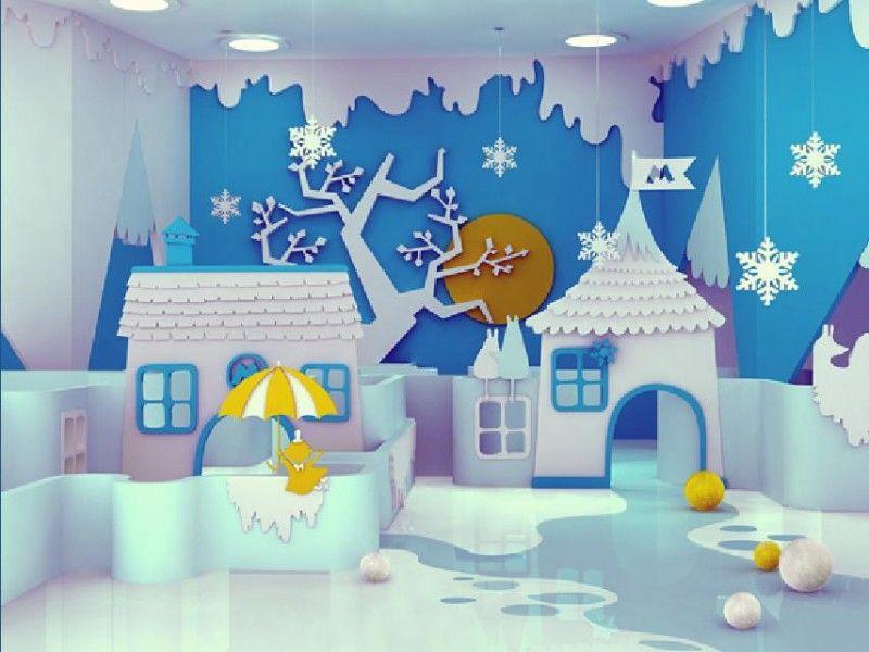 Artistic Theme Interior Decor for Kids Entertainment Center By Maria Yasko  Artistic Winter Theme Children Play