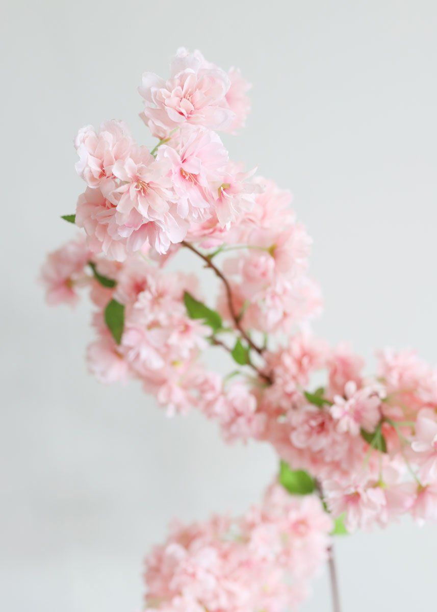 Pink Faux Cherry Blossom Flower Branch 40 Cherry Blossom Flowers Blossom Flower Flower Branch