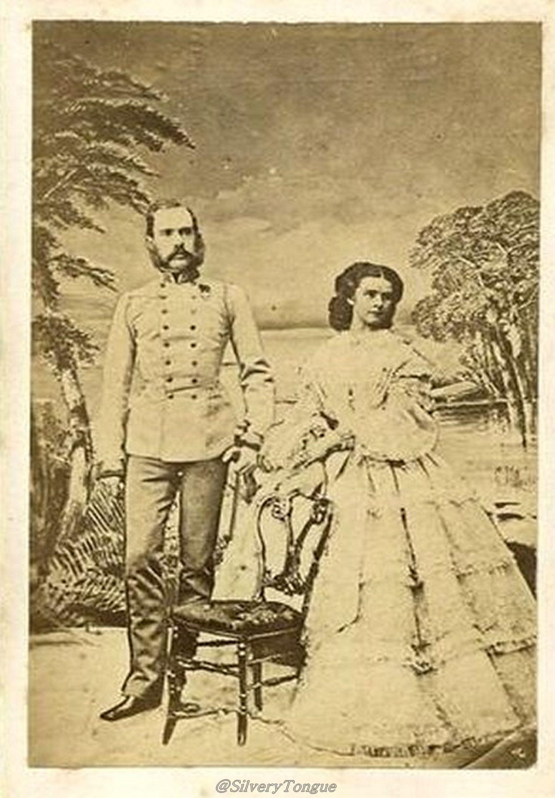 Emperor Franz Joseph And Empress Elisabeth By Ludwig Angerer Oude Foto S Oostenrijk Geschiedenis
