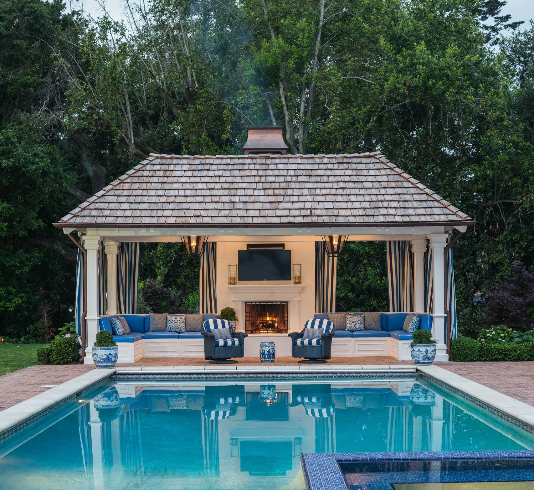Pin by Amy Underwood on Outdoor Spaces and Pools | Pool ... on Cabana Designs Ideas id=96916