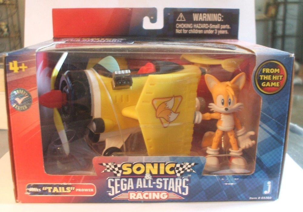 Tails Sonic The Hedgehog Action Figure Toy Sega All Stars Racing Vehicle Plane Tails Sonic The Hedgehog Action Figures Toys Sega