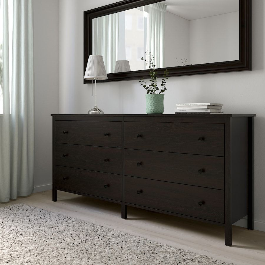 Koppang 6 Drawer Dresser Black Brown 67 3 4x32 5 8 Ikea In 2021 Dresser Drawers 6 Drawer Dresser Black Dresser Bedroom [ 900 x 900 Pixel ]