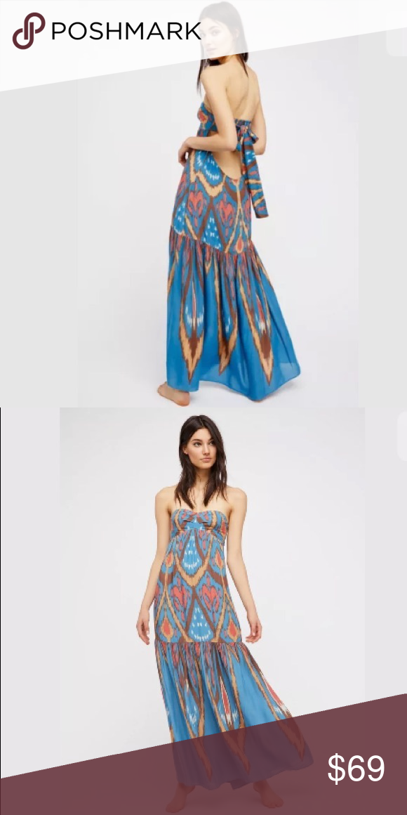 7054fa582e0 Free People Mohave Maxi Dress Blue Free People Strapless Maxi Dress Free  People Dresses Maxi