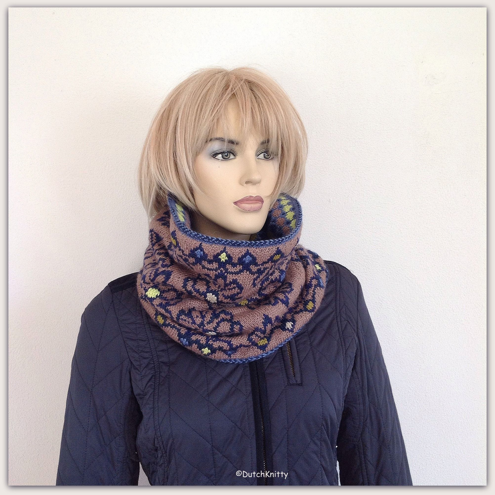Reversible fair isle cowl knitting pattern | ❅ MY OWN KNITS and ...