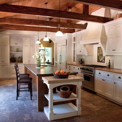Kitchens · Open Beam Ceilings | Visit Houzz Com