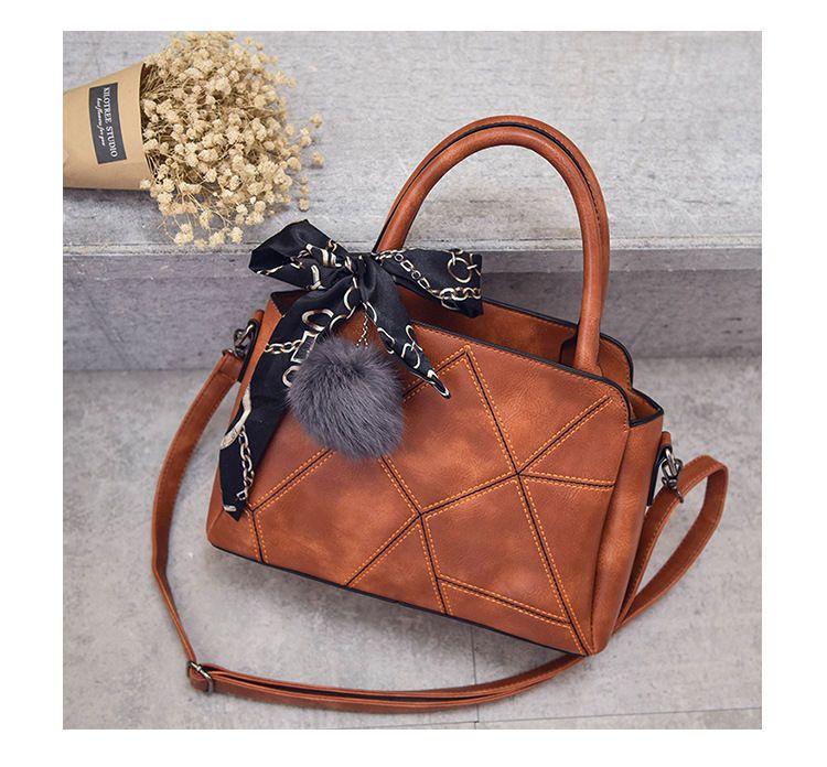 Faux-Leather Satchel