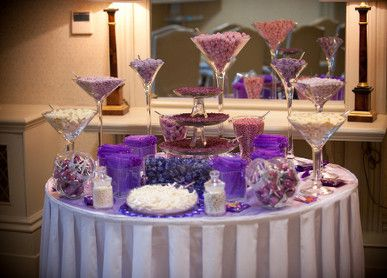Purple Sweet Tables Sweets For My Sweet Sweets Table Wedding Wedding Dessert Table Wedding Brownies