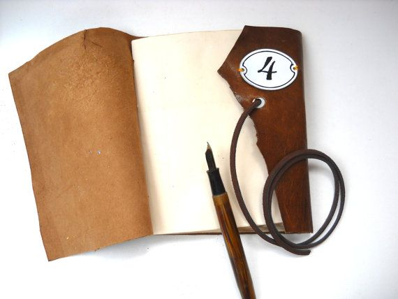 Wrap around Brown Italian Leather Journal by TheAlteredDiaries