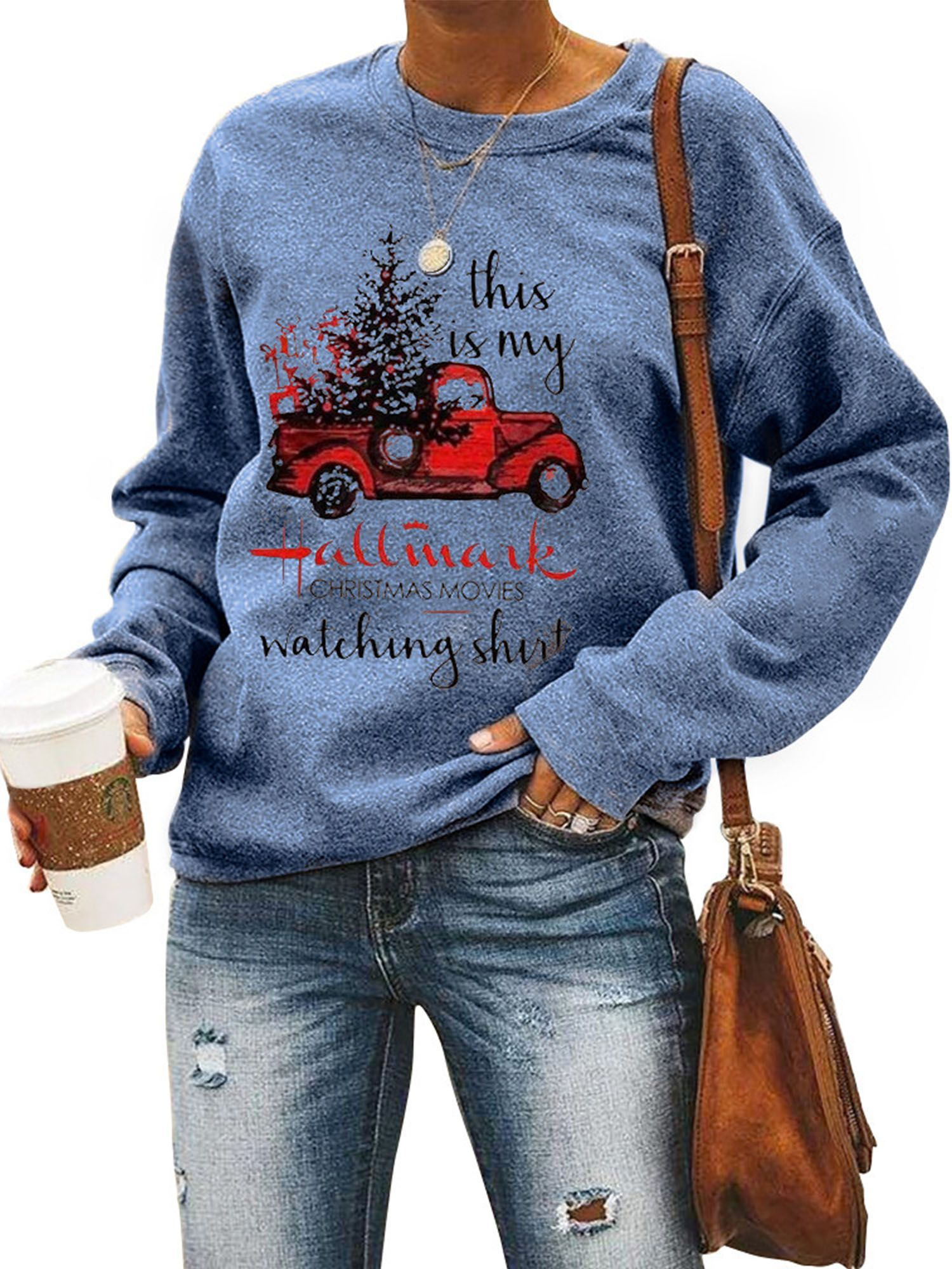 Amavo Avamo Christmas Tree Crew Neck Sweatshirt Pullover For Women Ladies Xmas Holiday Sweater T Shirt Top Winter Fall Spring Walmart Com Pullover Sweatshirts Cute Christmas Sweater Sweatshirts [ 2000 x 1500 Pixel ]
