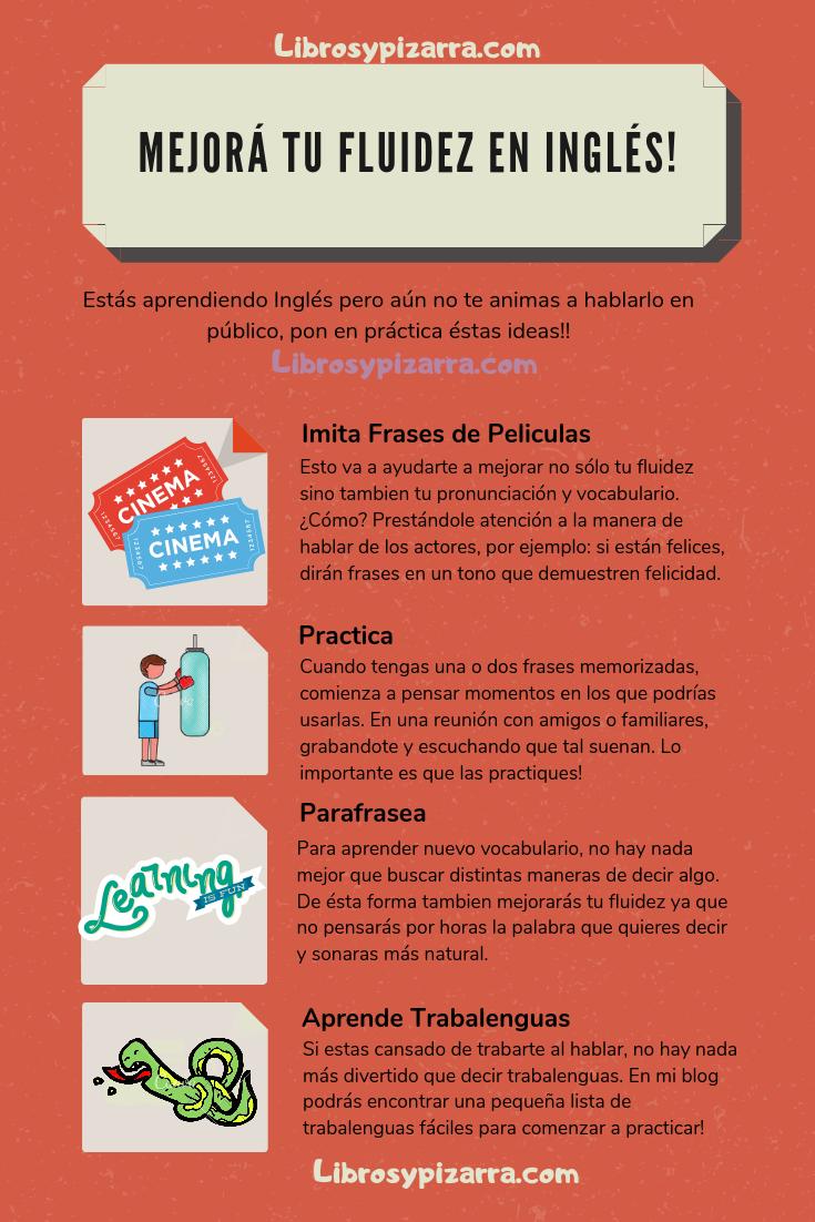 Tips Mejora Tu Fluidez Como Aprender Ingles Basico Enseñanza De Inglés Expresiones En Ingles