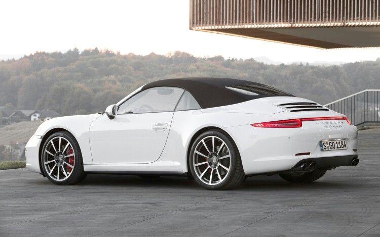 Beautiful White Porsche 991 Carrera 4s Convertible Porsche