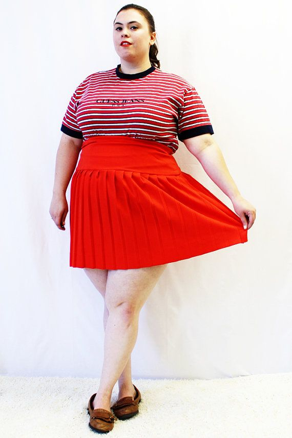 Plus Size - Vintage Red Stretch Velvet Tiered Midi Skirt (Size ...