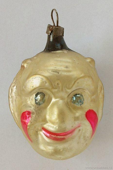 Ornament: Clowns   vintage christmas glass heads   Pinterest ...
