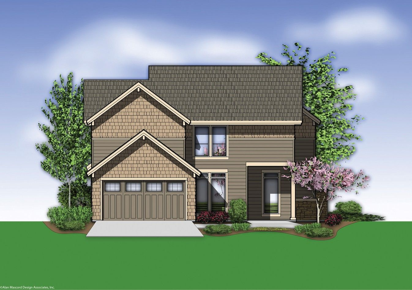 mascord house plan 22170 the mayfield craftsman house