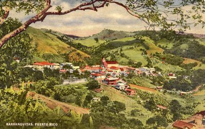 """Barranquitas back in the day... Our """"Rat Finca"""" was on a mountain above this little town."""