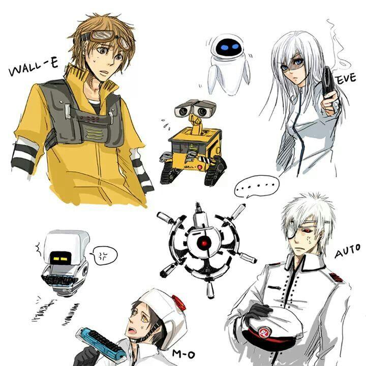 Wall - E Anime Version
