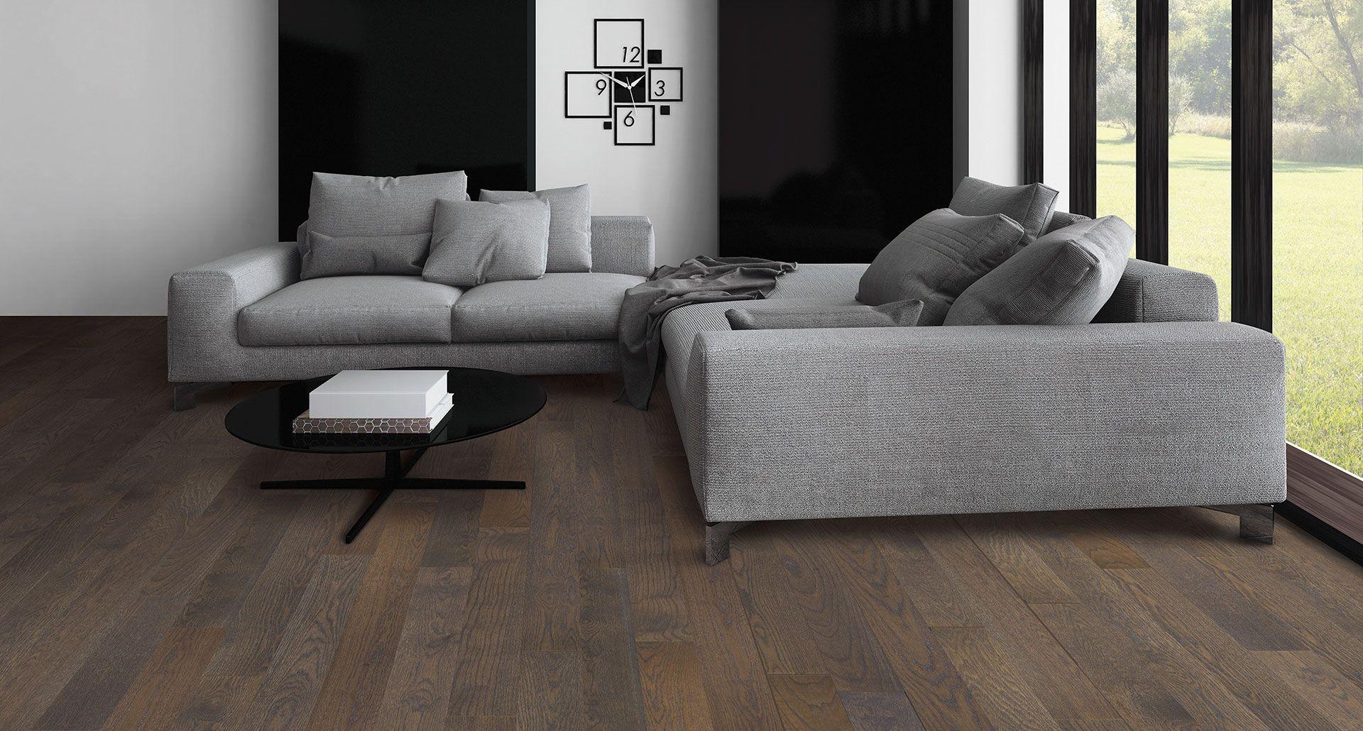 Wirebrushed Wool Oak PERGO® American Era Solid Hardwood