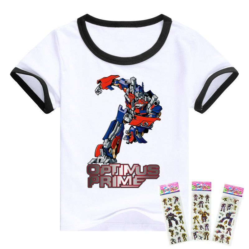 2016 T shirt Transformation Optimus Prime Bumblebee boys clothes movie tv boys clothing Short Sleeve cotton children t shirts