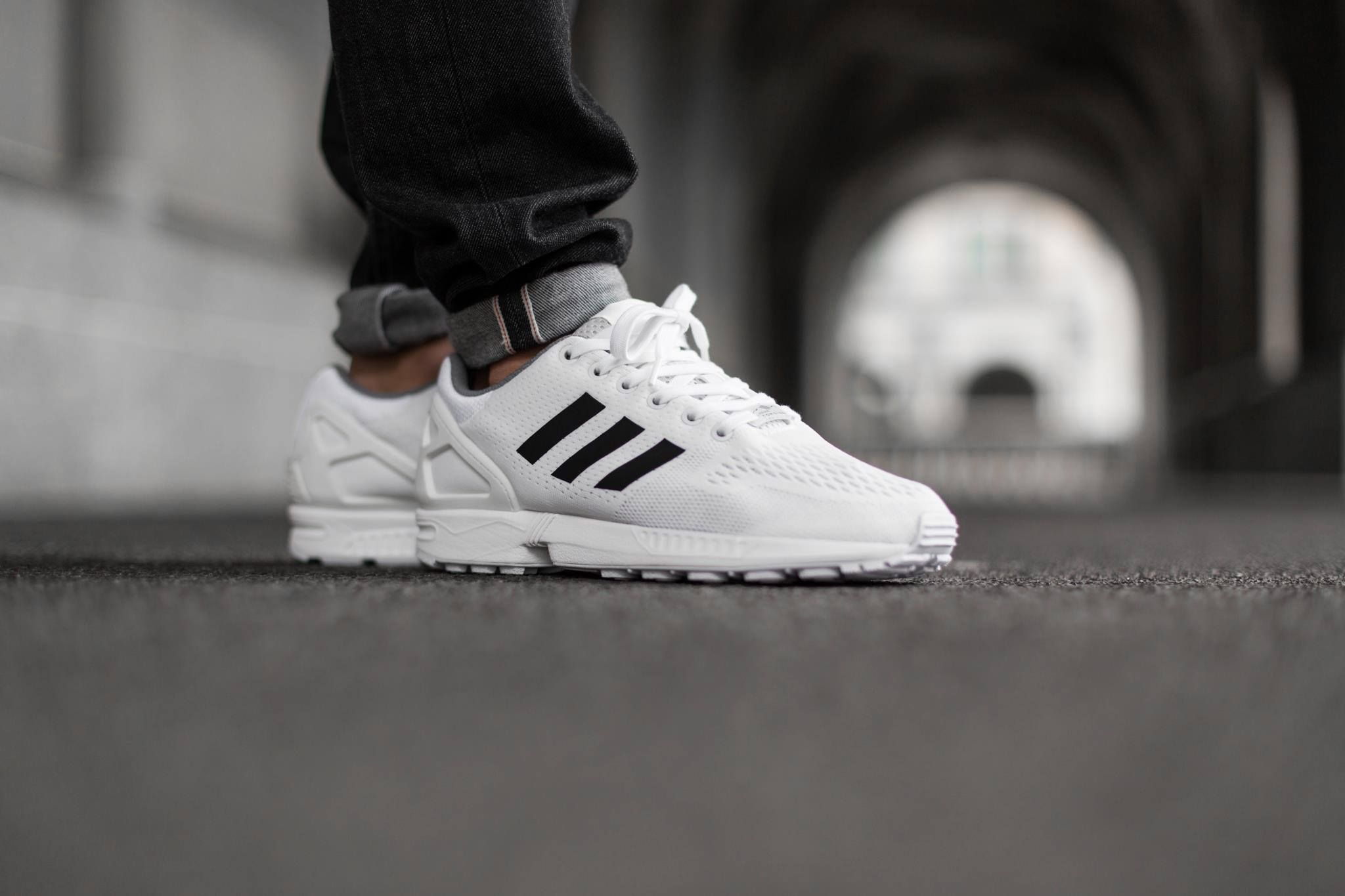 Adidas Zx Flux White Core Black Adidas Zx Flux White Sneakers Men Fashion Adidas Zx